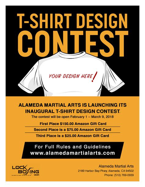 t shirt design contest rules and guidelines alameda martial arts on bay farm island tread light