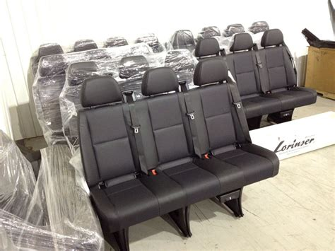 sprinter bench seat leatherette mercedes benz sprinter oem seat new limousine