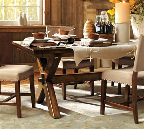 pottery barn dining tables toscana fixed dining table pottery barn