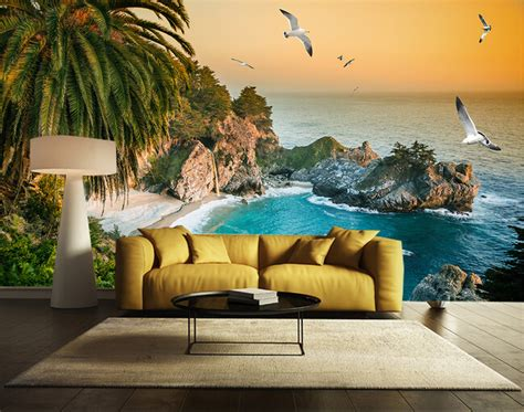 beach murals for bedrooms custom wall mural landscape the beach mural for the