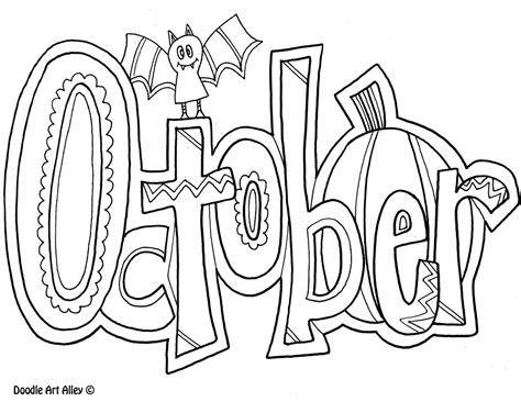 October Coloring Page october coloring pages to and print for free
