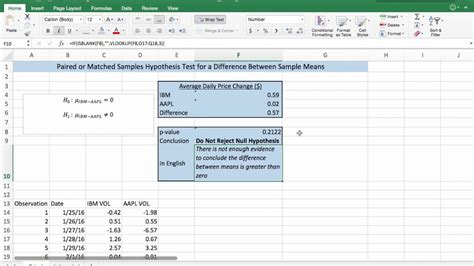test t student excel t test function in excel for two sle hypothesis tests
