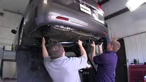 installation of a trailer hitch on a 2013 toyota sienna