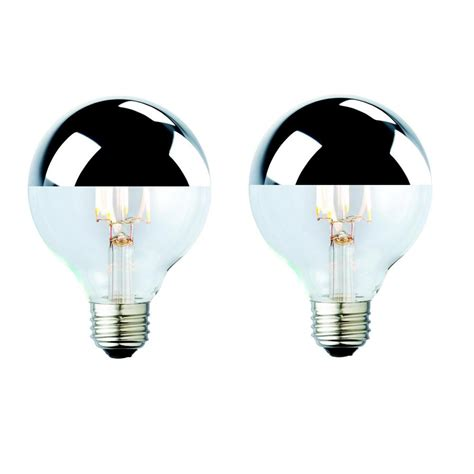 white tipped light bulb archipelago 40w equivalent white g25 silver tipped