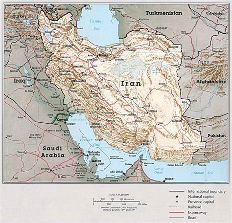 middle east country atlas maps