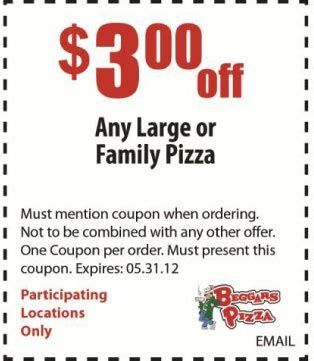 haircut coupons lansing mi beggars pizza 3 off pizza printable coupon save 3 off