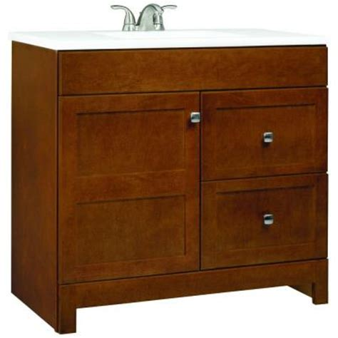 glacier bay bathroom vanities glacier bay artisan 36 1 2 in w x 19 in d vanity in chestnut with cultured marble vanity top