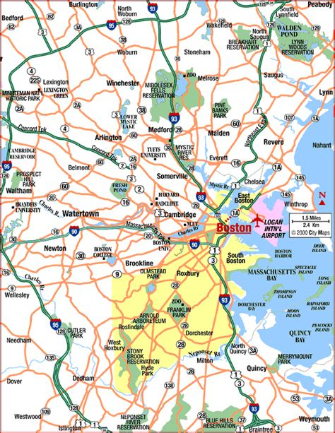 map of area map boston area