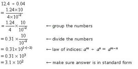 dividing numbers in scientific notation (with worked