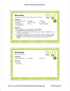 professional recipe card template the complaint letter template from vertex42