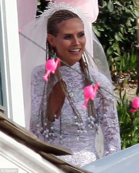 white trash wedding dresses day for a white trash wedding heidi klum