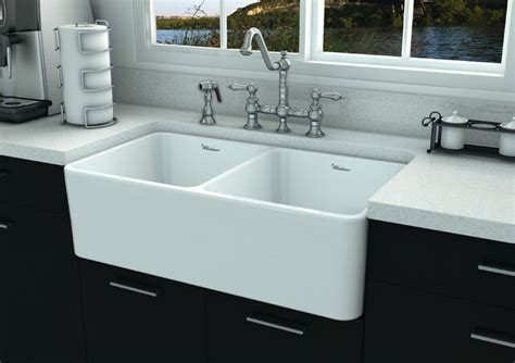 contemporary kitchen sinks whitehaus whflpln3318 fireclay sink contemporary