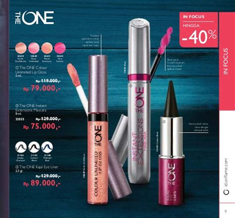 Oriflame The One Colour Unlimited Lip Gloss Evermore 30642 katalog oriflame november 2016 indonesia