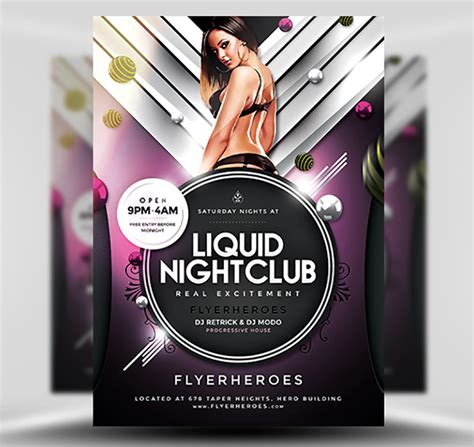 nightclub flyers templates liquid nightclub flyer template flyerheroes