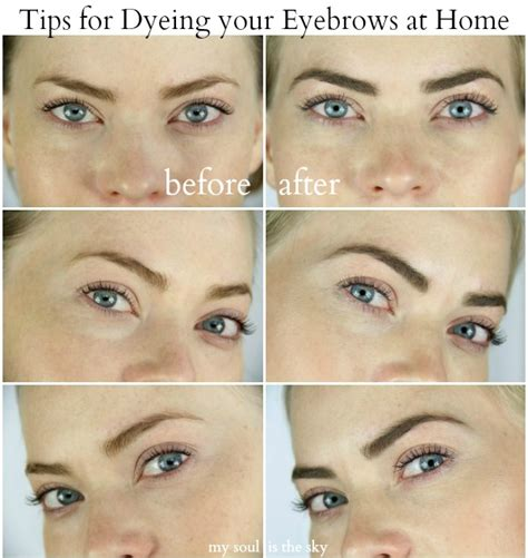 how to dye your eyebrows at home sue