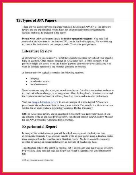 literature review exle apa sop exles
