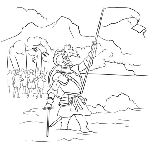 vasco nunez de balboa for vasco n 250 241 ez de balboa coloring page free printable