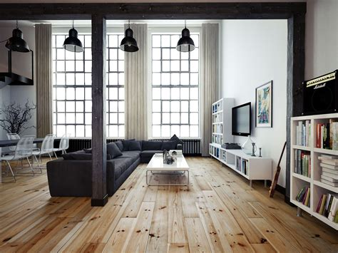 wohnung vintage vintage industrial loft wooden flooring and industrial