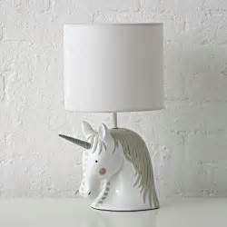 unicorn table lamp the land of nod