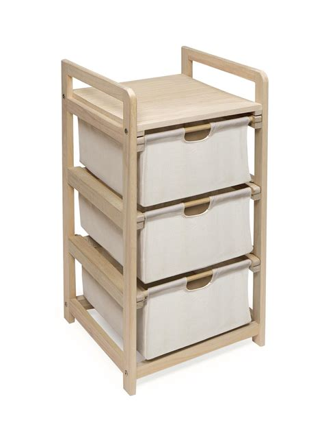 Drawer Basket Storage by Badger Basket Three Drawer Her Storage Unit By Oj