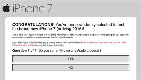 Free Iphone Giveaway Legit - beware of apple iphone 7 test survey reward or giveaway scams