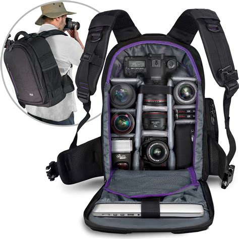 large camera backpack bag with waterproof cover for canon