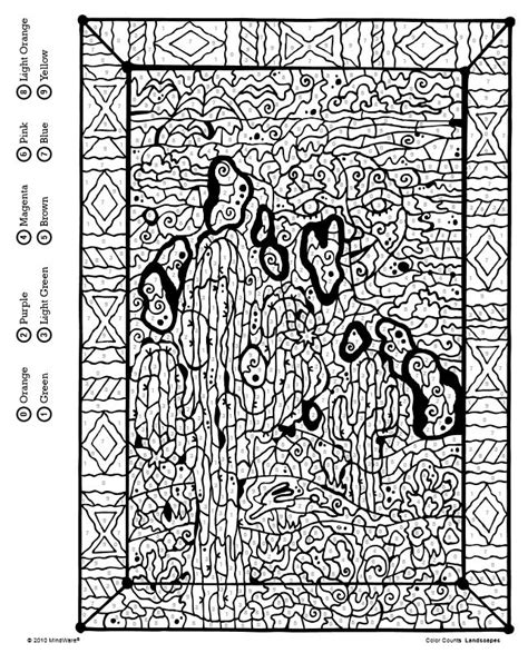 Color Counts Coloring Pages color counts color by number book landscapes from