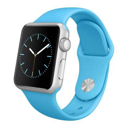 apple watch 38mm sport band blue, silver aluminum умен