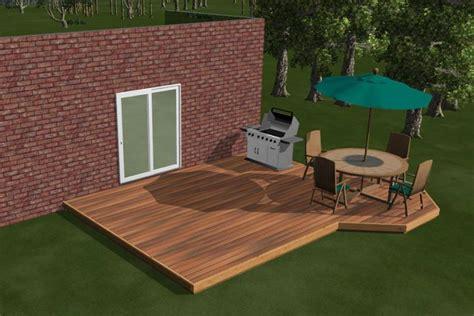 Backyard Deck Ideas Ground Level 1 Level Diy Deck Plans