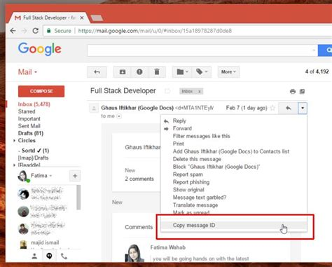 How To Search An Email In Gmail How To Find The Message Id For A Gmail Email Chrome