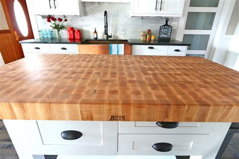 boos butcher block kitchen island the 1912 modern farmhouse kitchen remodel our boos