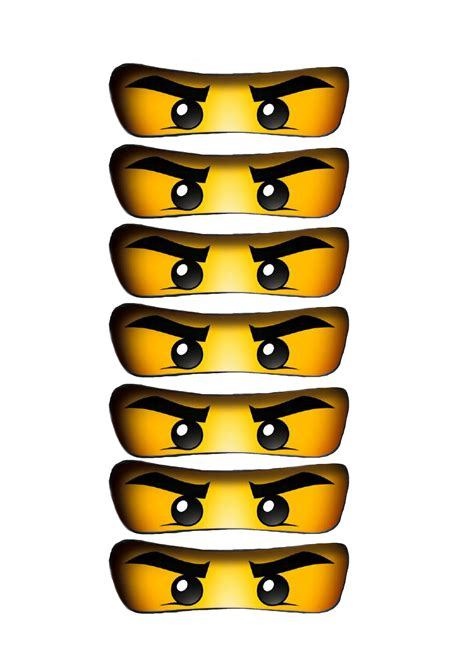 printable lego eyes ninjago print ballonger tonerosedesign ninjago party