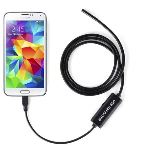 Android Endoscope Ip67 Waterproof For Hitam 1280x480 7mm 6 led 7mm lens ip67 usb android endoscope borescope waterproof snake for android