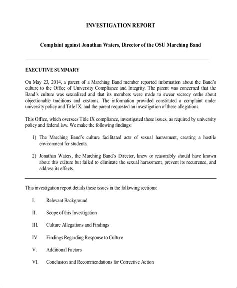 crime investigation report template criminal investigation report template www imgkid