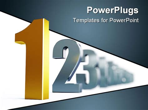powerpoint templates numbers free number 1 isolated on a white background powerpoint