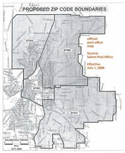 salem oregon zip codes map