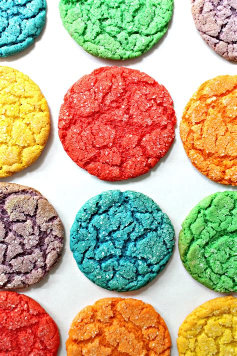 colored cookies rainbow cake mix cookies for care package 23