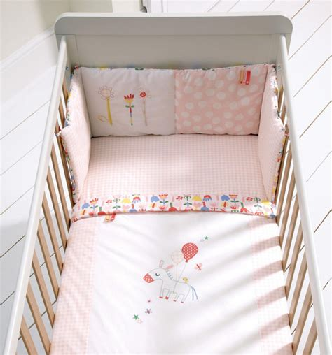 nursery bedding and curtain sets pink lemonade 5 cot cotbed bedding curtains set traditional baby bedding