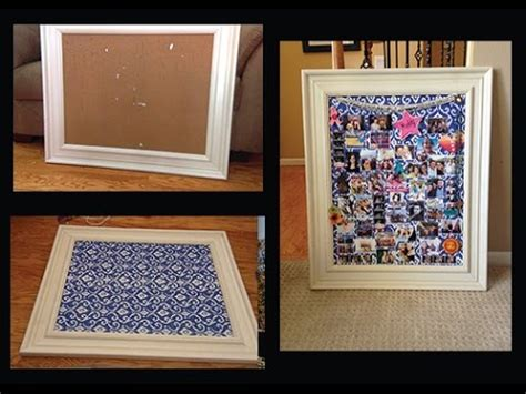 picture collage board diy framed cork board picture collage