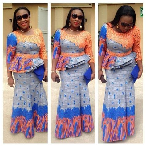 skirt and blouse style with cord lace recent ankara skirt and blouse lace henley blouse