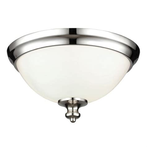 Flush Fitting Ceiling Lights Uk Flush Fitting Ceiling Light Opal Glass Dome Shade Nickel Surround