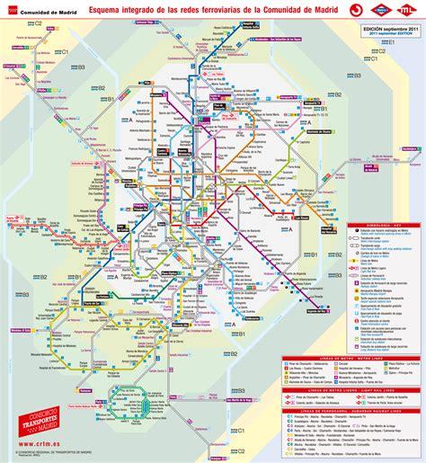 plano metro de madrid post underground and railway maps from major cities in