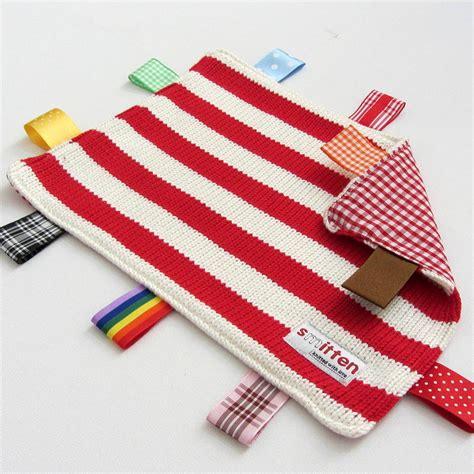 comfort blanket striped baby comfort blanket by smitten