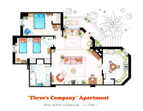 company floor plan floorplan of three s company apartment by nikneuk on