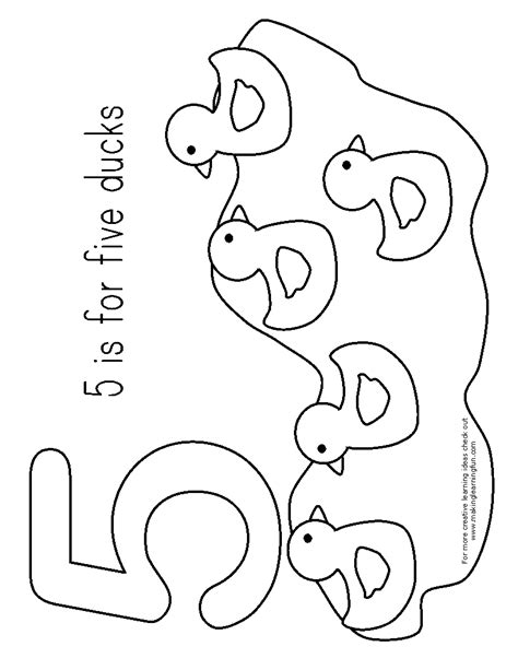 Five Ducks Coloring Page five ducks coloring pages and print for free