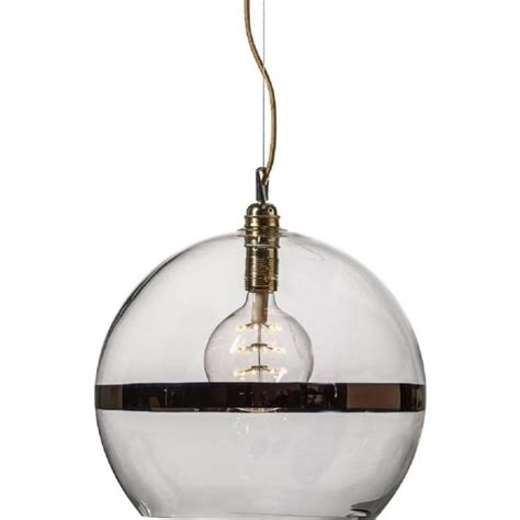 Glass Ceiling Lights Pendant by Large Glass Globe Ceiling Pendant Light With Copper Stripe