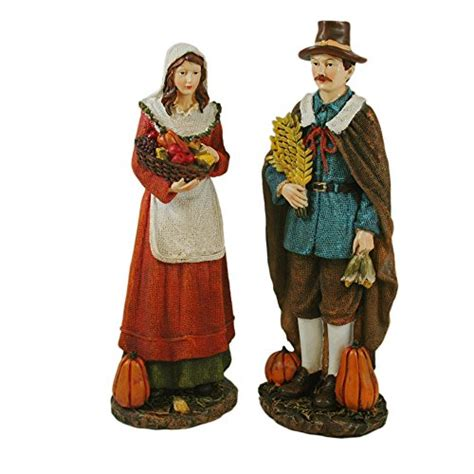 resin pilgrim and indians thanksgiving decorations shopswell