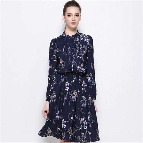 Dress Kerja Stylish New Impor new fashion bohemian robe cotton flax print ruffled button dress large size 5xl summer dress