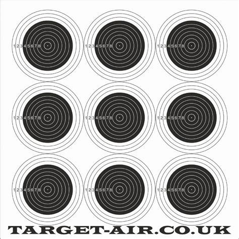 hft printable targets 9 bullseye airgun rimfire shooting targets