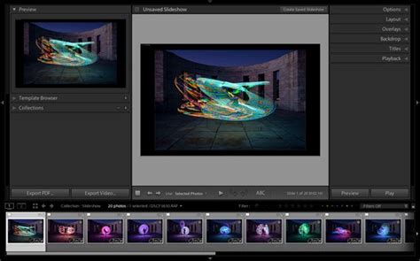 How To Create A Simple Slideshow In Lightroom Lightroom Slideshow Templates Free